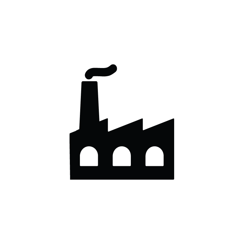 Industrial vector. Factory industry production icon