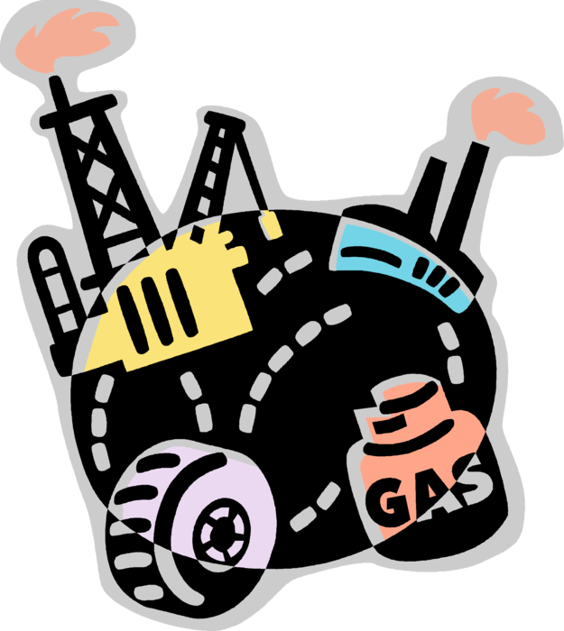 Industrial vector petrochemical industry. Produces chemicals image illustration