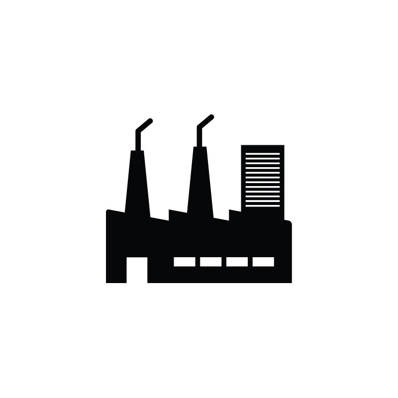 Vector factory small industry. Production industrial icon