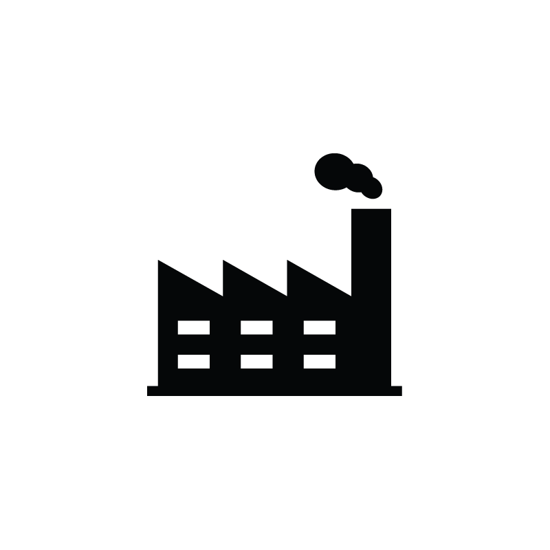 Industrial vector. Production factory industry icon