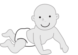 young clipart crawling