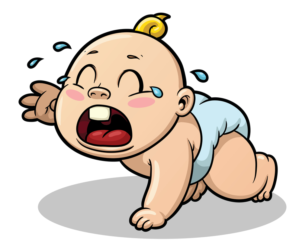 Infant clipart babie. Screaming pencil and in