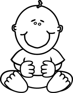 Infant clipart baby drawing. Downloads panda free images