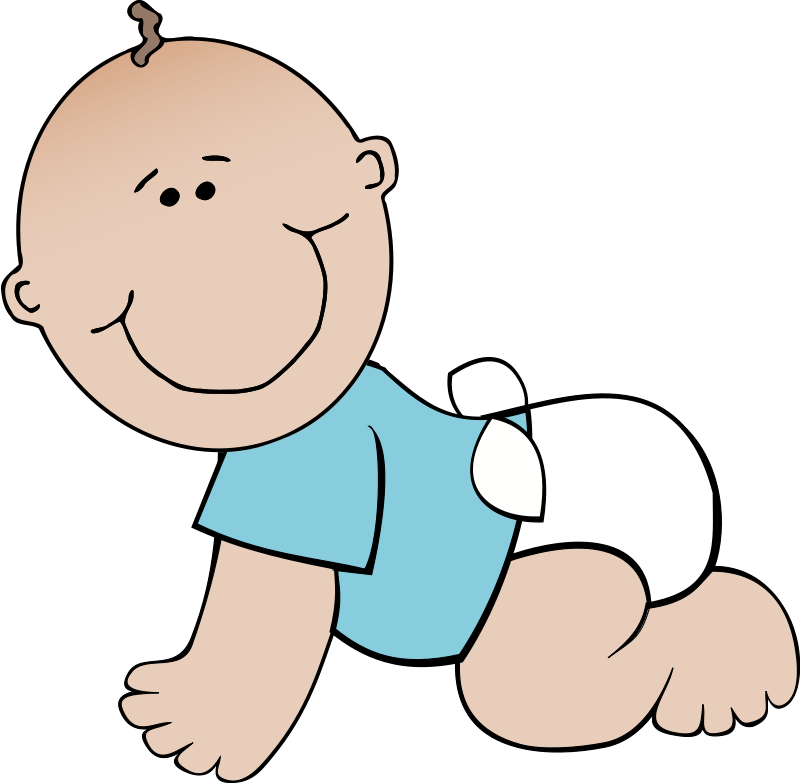 Click to close image. Infant clipart baby drawing clip black and white