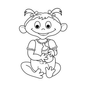 Clip art black and. Infant clipart baby drawing png royalty free download