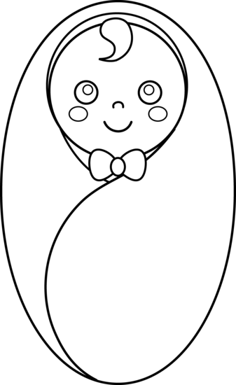 Swaddled line art free. Infant clipart baby drawing svg library