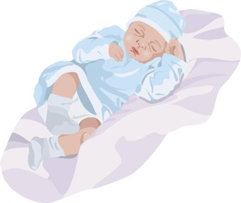 Clip art of a sleeping infant