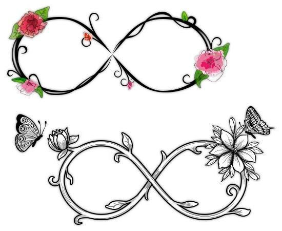 Infinity clipart butterfly. Flower with tattoo dawniel