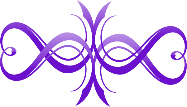 Flourishes svg heart. Two tone purple infinity