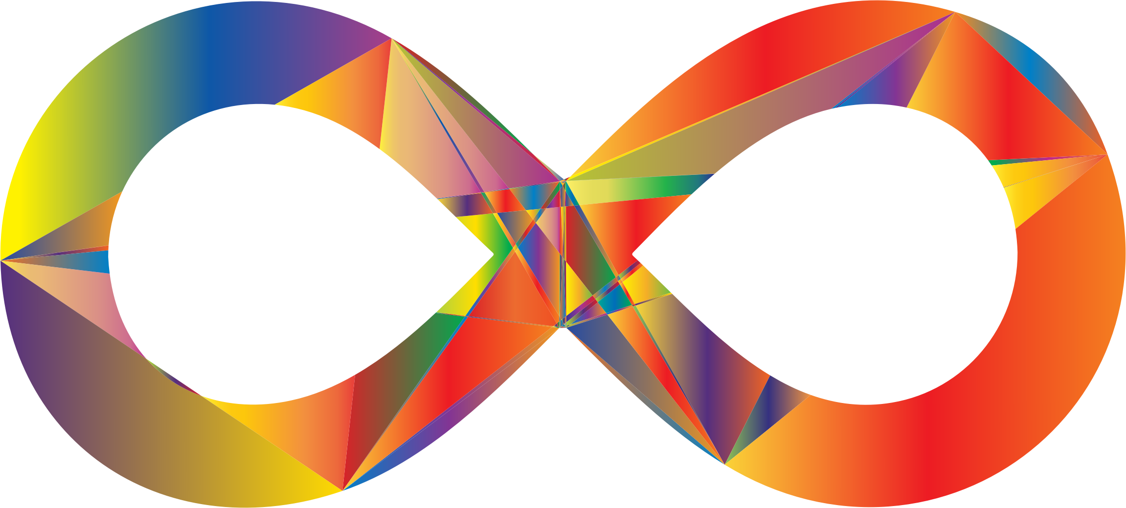 Infinity .png. Prismatic geometric sign icons
