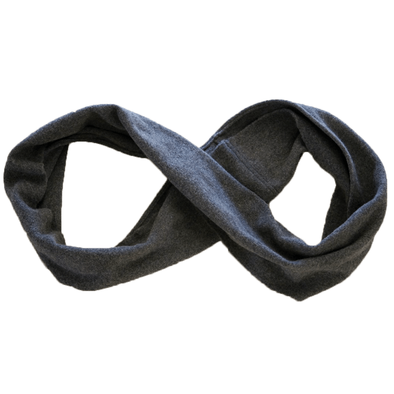 Infinity scarf png. Half moon travel clothing
