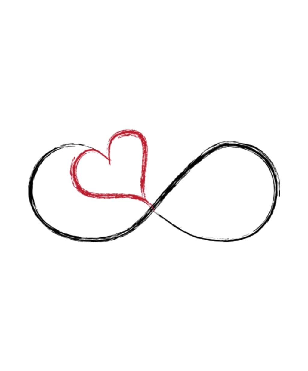 Infinity symbol hearts png. Heart love sticker by
