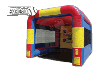 Inflatable speed pitch cage product png. Baseball sports rental rochester