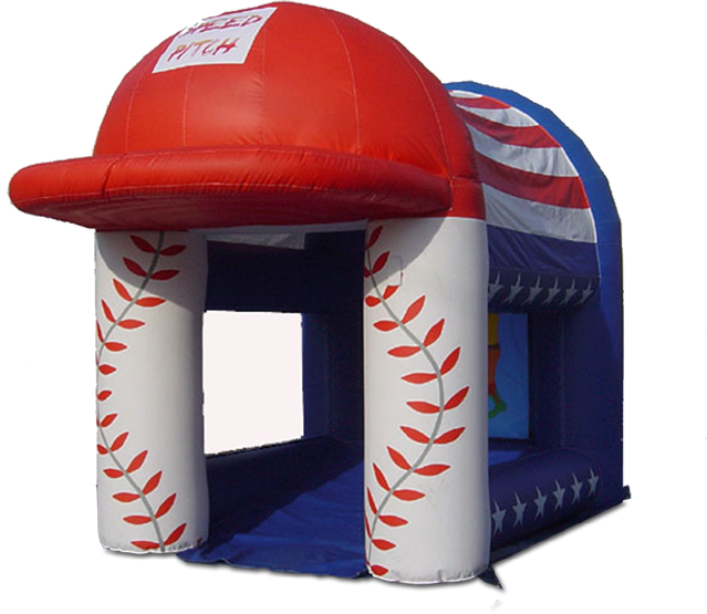 Inflatable speed pitch cage product png. W radar display texas