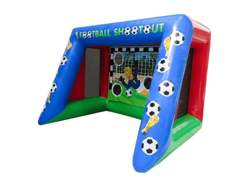 Inflatable speed pitch cage product png. Football airquee softplay products