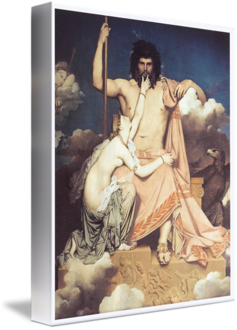 Ingres drawing auguste. Zeus and thetis by