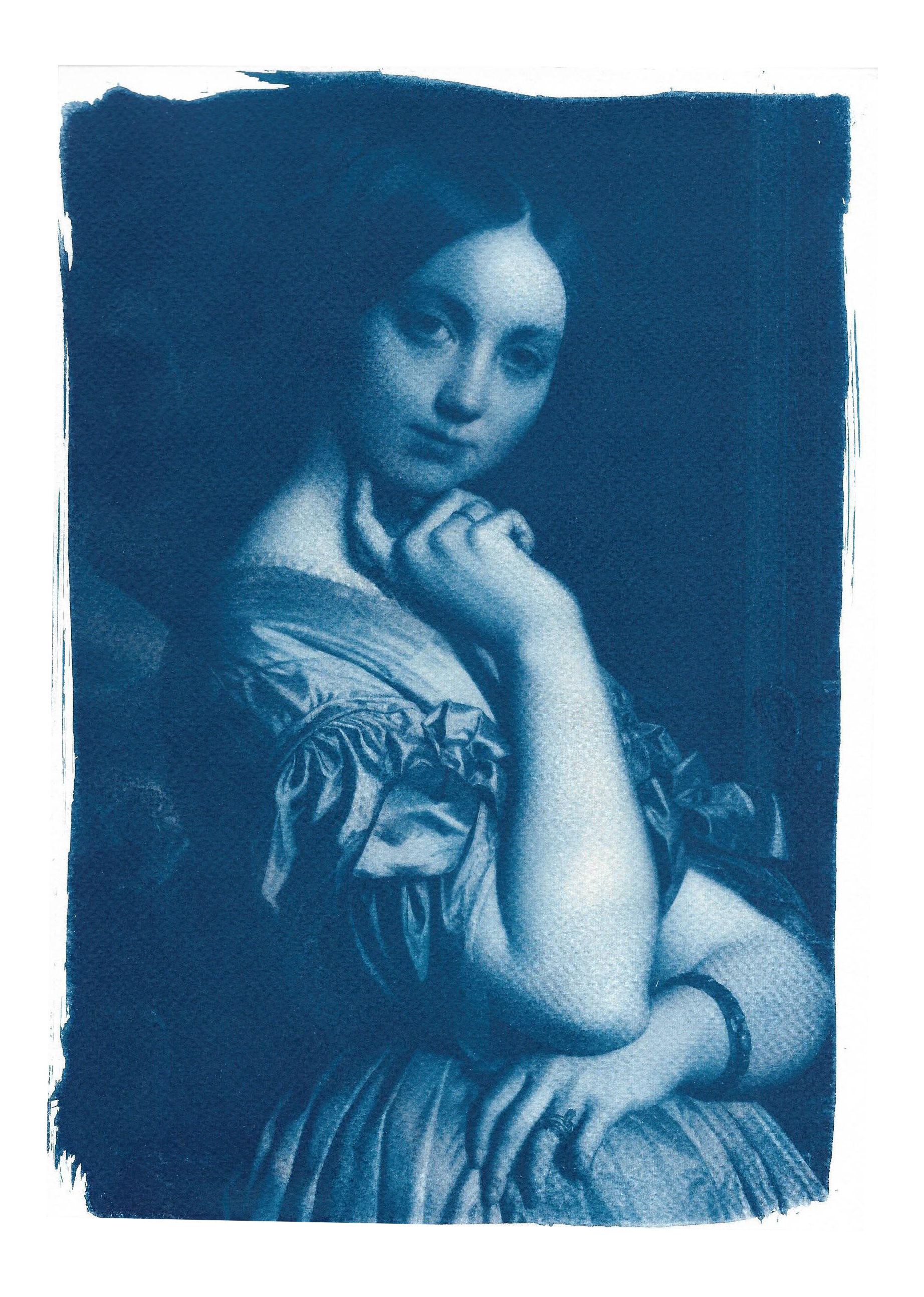 Limited edition of young. Ingres drawing portrait free