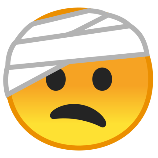 Injury clipart head bandage. Google android pie