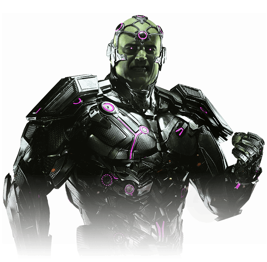 Image brainiac gods among. Injustice 2 png vector stock