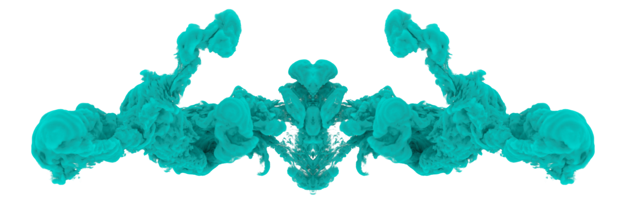 Ink in water png. Cyan drop by dr
