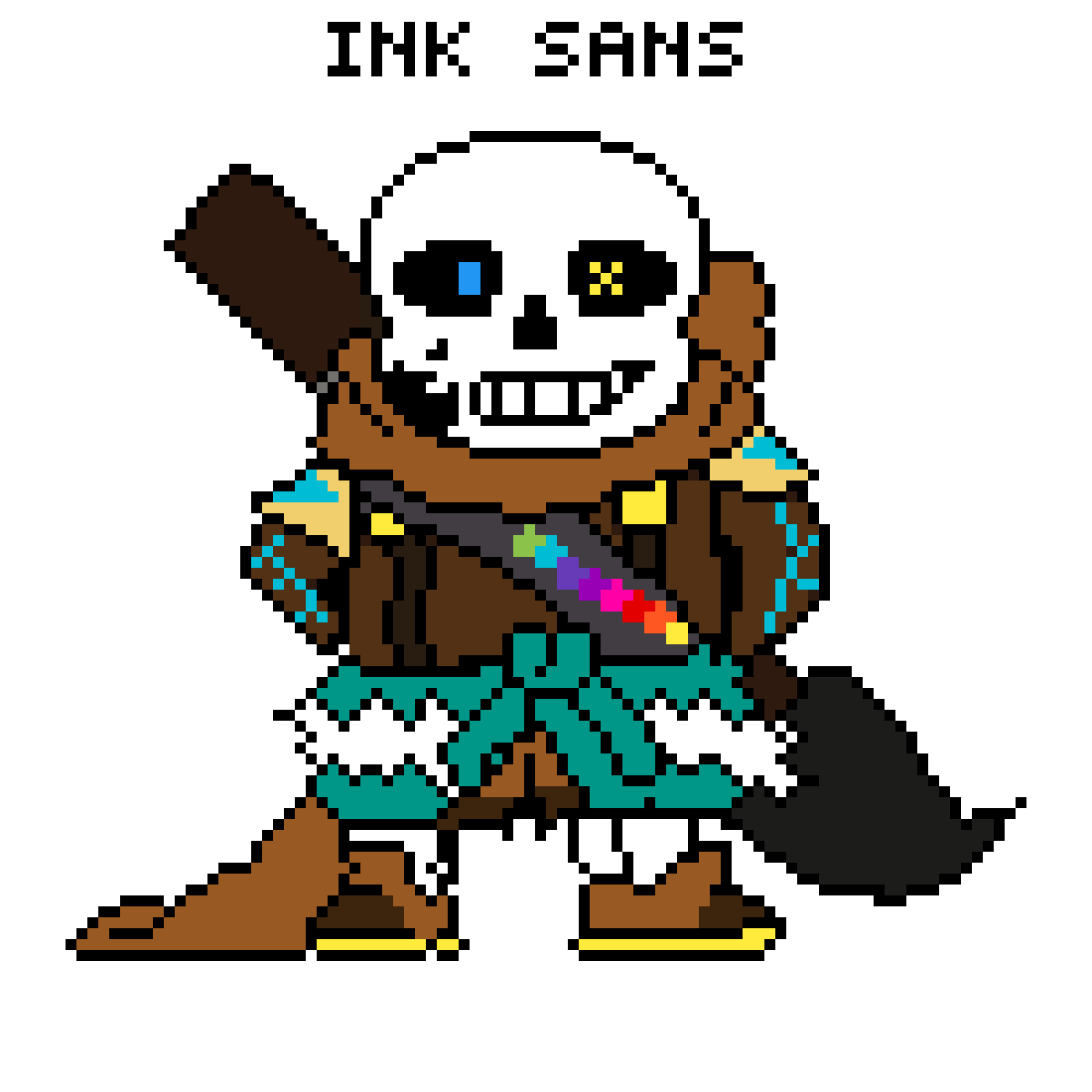 Ink sans png. Pixilart by underplayer colors