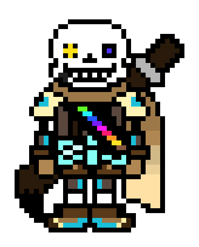 Image fan undertale wikia. Ink sans png banner black and white library