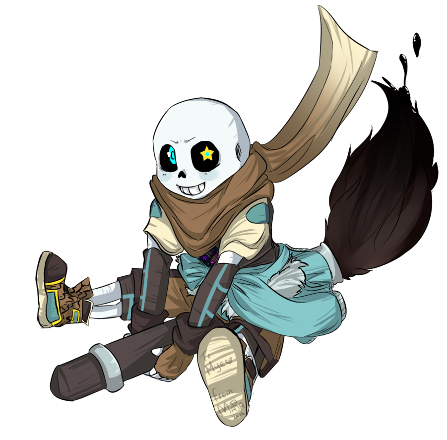 Ink sans png. Gift by princemasae on