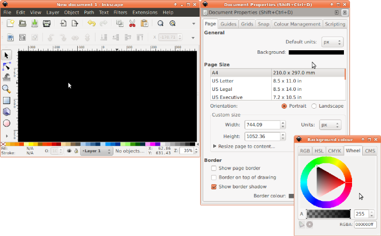 Inkscape change color of png. Creating stimuli with and