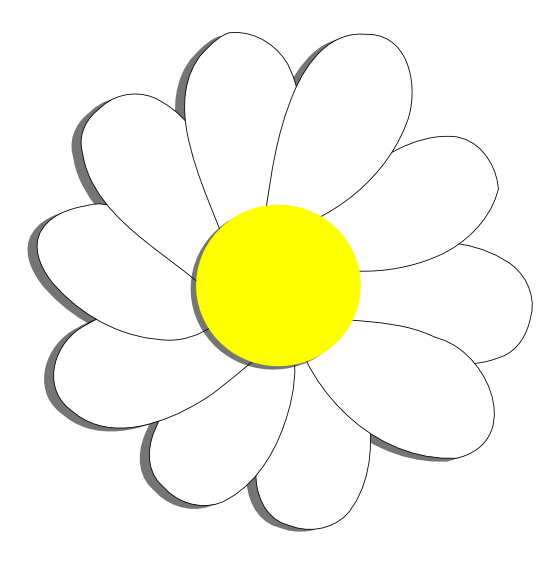 Inkscape png to vector. Daisy flower scalable graphics