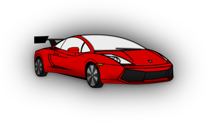 Supercar drawing lamborghini gallardo. Draw with inkscape by