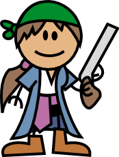 Inscape drawing character. Learning inkscape an order