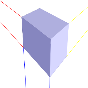 Inscape drawing perspective. D boxes point