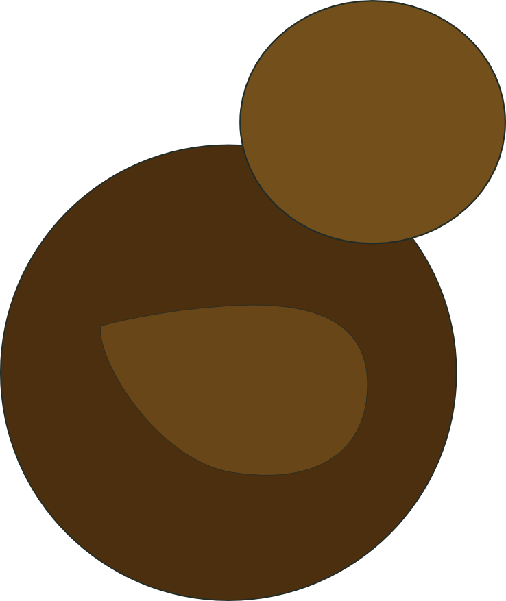 Inscape drawing shape. Using simple shapes and