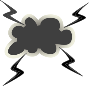 Angry clipart bug. Cloud with lightening bolts