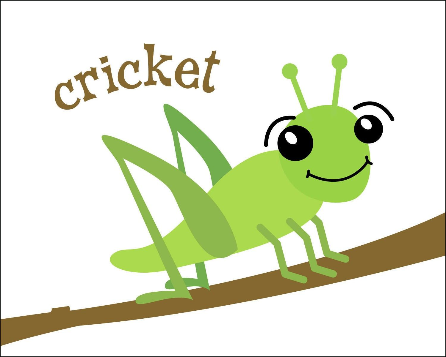 Insects clipart tree. Cute cricket insect kid