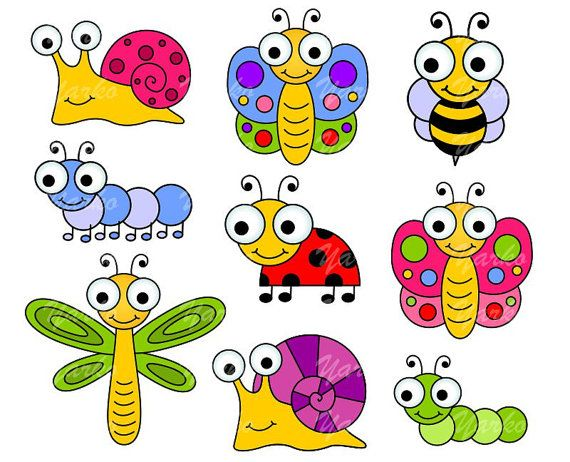 Insects clipart. Cute bugs clip art