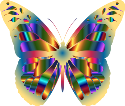 Insect clipart scary. Monarch butterfly swallowtail rainbow