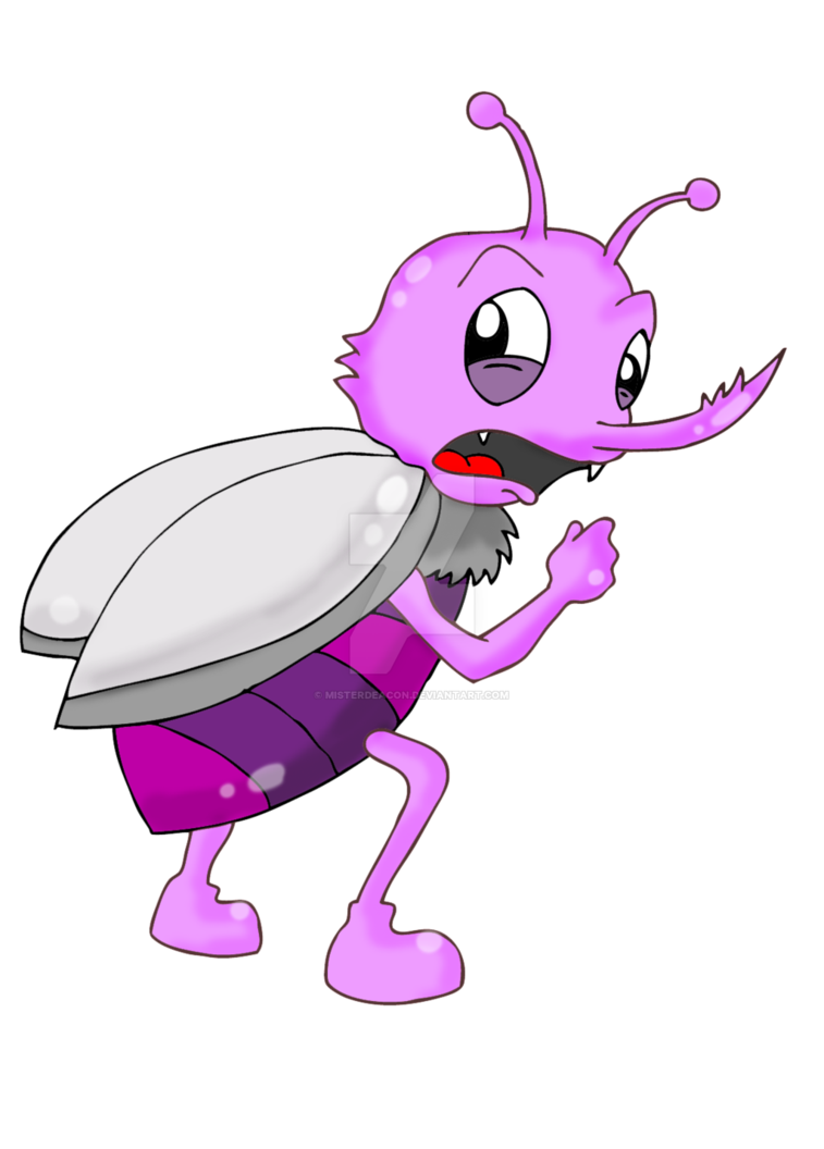 Insect clipart scary. Cartoon scared bug by