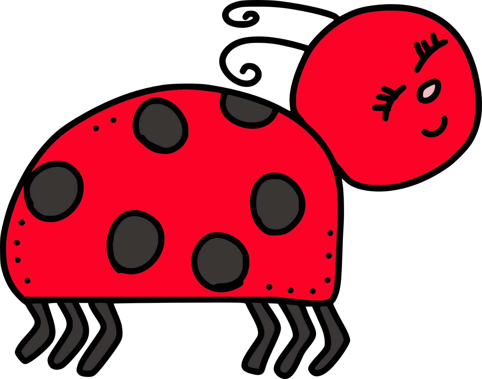 Angry clipart bug. Cute insect clip art