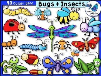 Insects clipart whimsical. Bugs and clip art