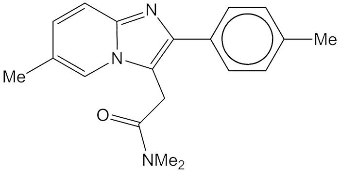 Insomnia drawing cross. Zolpidem american chemical society