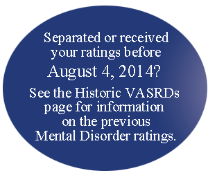 Disease drawing mental illness. Military disability ratings for
