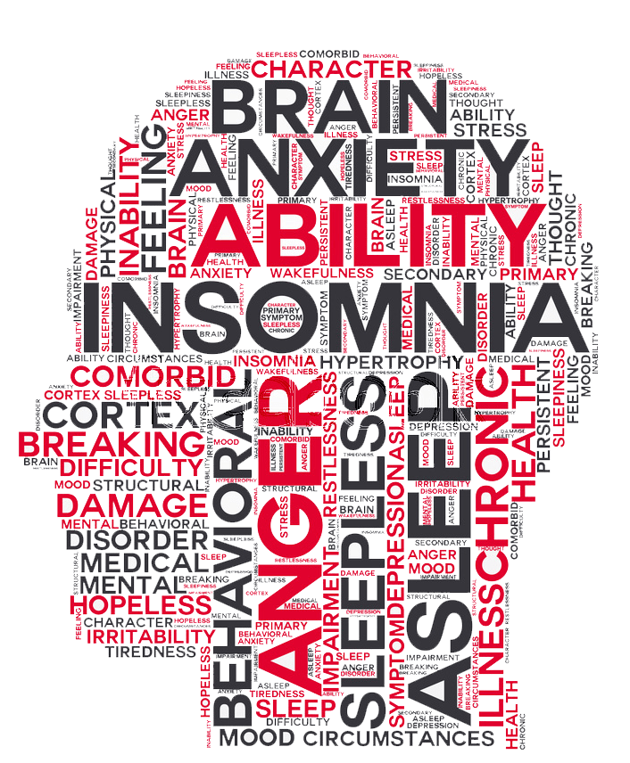 Insomnia drawing mental problem. Recognizing treating although