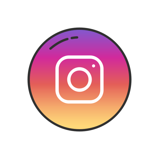 Instagram logo pink png. Button social media icon