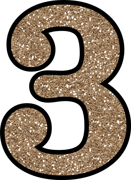 Pink glitter number 5 png. Free numbers to download