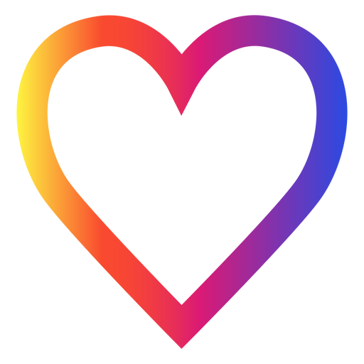 Instagram heart png. Icon transparent svg vector