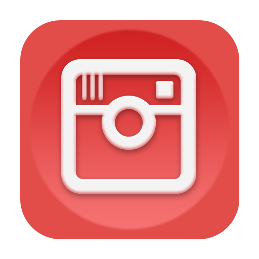 Red instagram png. Icon social media icons