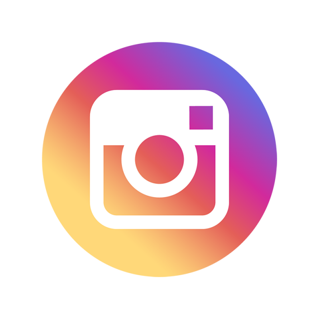 Instagram icon png transparent background. Color social media and