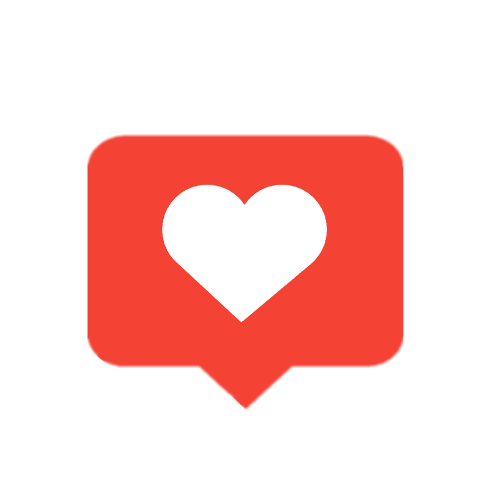 Instagram like icon png. Love red heart
