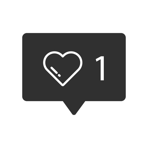 Instagram like png. Heart one icon size